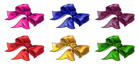 batch: set of batch bow of wariated color Illustration