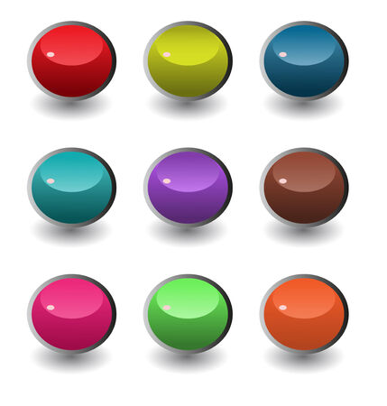 round corner: set of round Battons