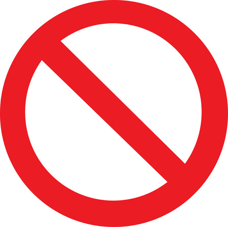 danger symbol: Not Allowed Sign