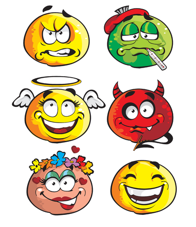 facial painting: Set of smileys 2