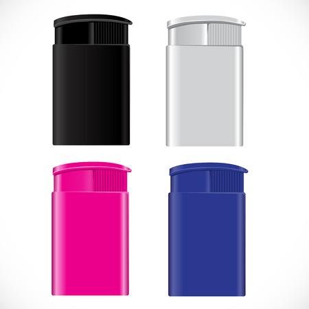 lighter: souvenir cigarette  lighter. vector