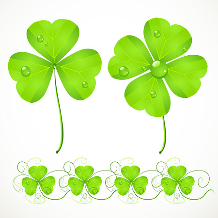 St. Patrick's Day green clover Stock Vector - 23152198