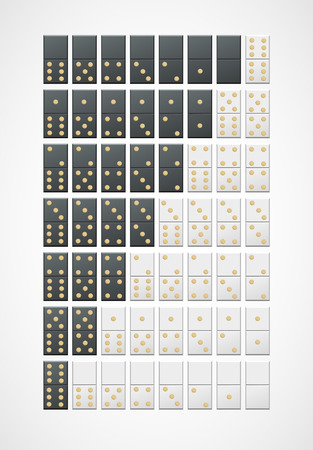 Two sets of dominoes for your design Vector