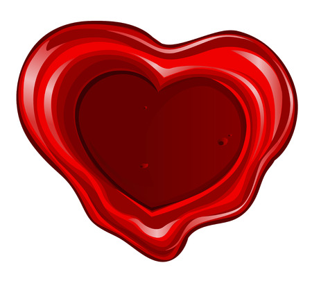 sealing wax: Valentine`s day sealing wax in heart shape