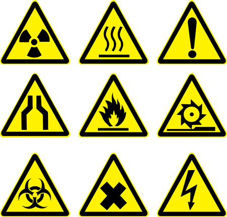 danger symbol: warning signs