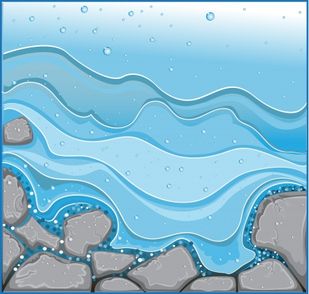 tenderly: water stream with rocks background without text