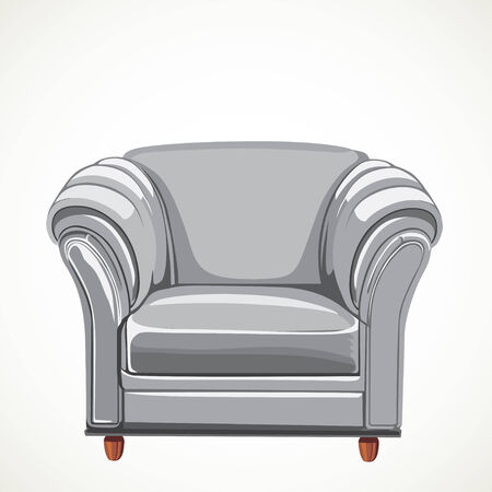 isolated white vector armchair Stock Vector - 23152133