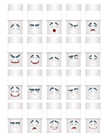 thoughtfulness: White counter smiles Illustration