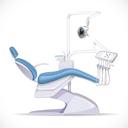 drilling machine: Dental Unit on a white background