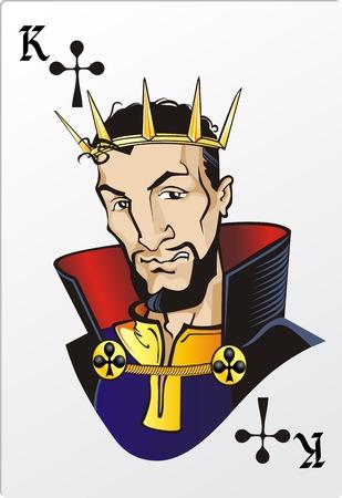 King of Clubs Deck romantische grafische kaarten