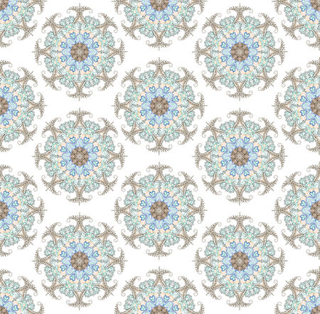 Seamless background from floral ornament round photo