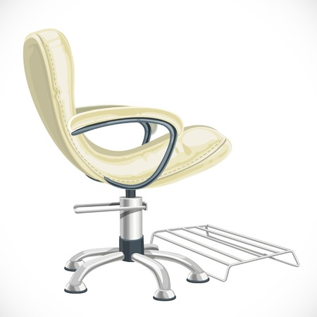 arm chair: Barber chair isolated on white background Illustration