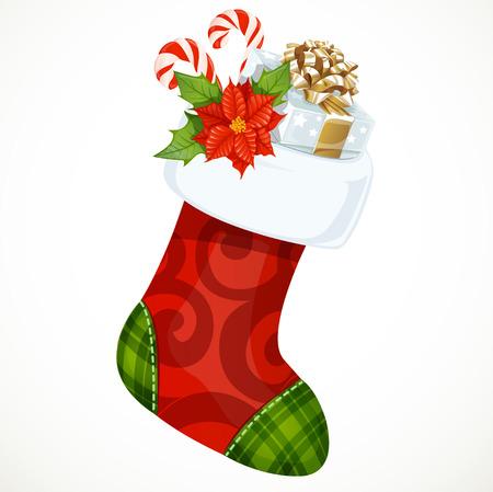 christmas sock: Christmas sock with gifts