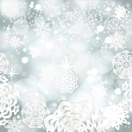 christmass: Vintage shining Christmass background from snowflakes applique