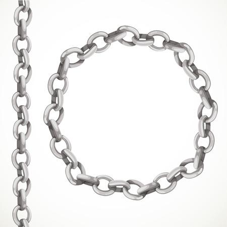 Metalen ketting naadloze lijn en gesloten in een cirkel