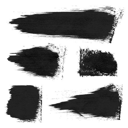 Rough prints en dikke verf slagen op papier 1 Vector tekening Stock Illustratie