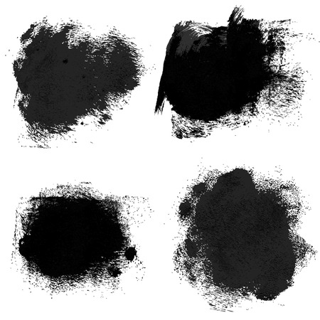 Rough prints and thick paint strokes on paper 2  Vector drawing