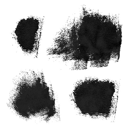 sumi: Rough prints and thick paint strokes on paper  Vector drawing Illustration