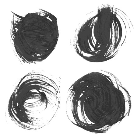 Realistic vector circles drawn thick paints Stock Vector - 25189965