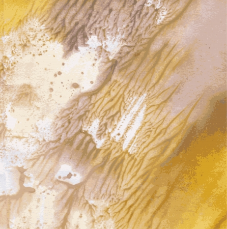 colors paint: Abstract yellow and golden paint imprint colors Illustration