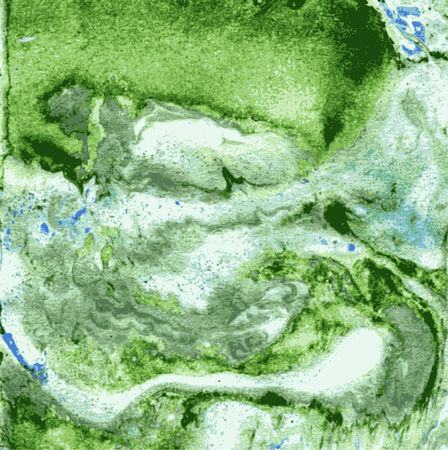 Imitation of green minerals by oil paint. Technology of marbleization. Vector background Vector