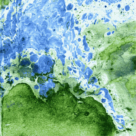 Imitation of minerals of the technician of a monotipiy by oil paint. Technology of marbleization. Vector background Vector