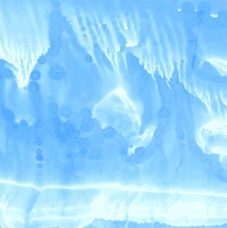 Light blue gouache monotypy painting