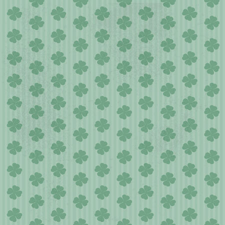 Vintage seamless green ornament from green quatrefoils Vector