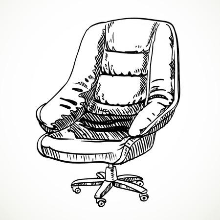 leather chair: Grande in pelle sedia da ufficio disegno vettoriale