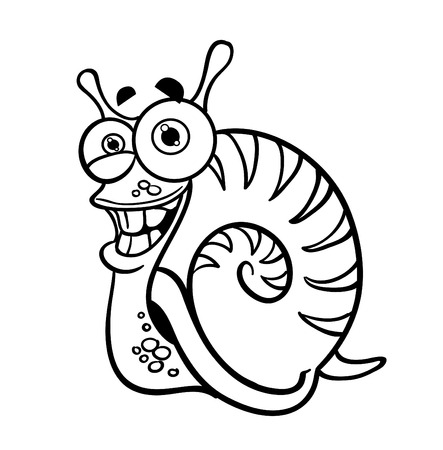 Outlined snail Vector
