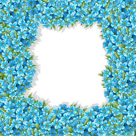 Spring forget-me-not frame Vector