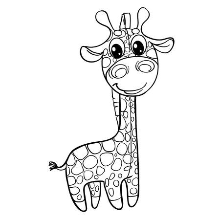 Outline baby giraffe Vector