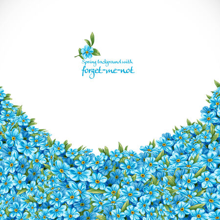 Spring background with forget-me-not Vector