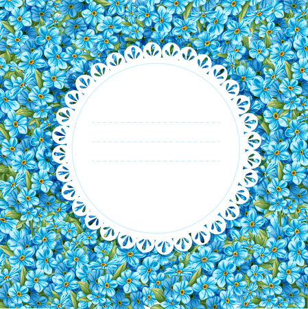 forget me not: Spring forget-me-not card for congratulation or invitation  Just write