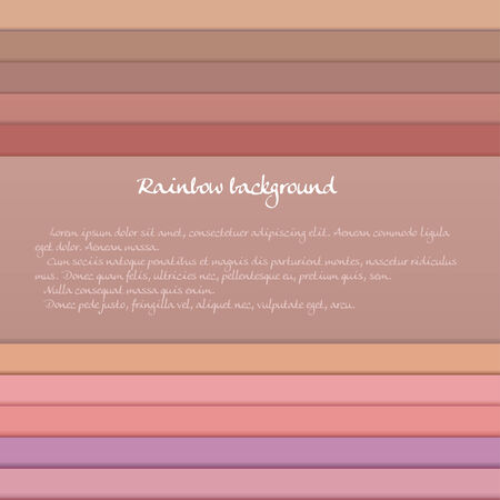 realism: Banner with colored horizontal stripes in pastel orange and purple tones