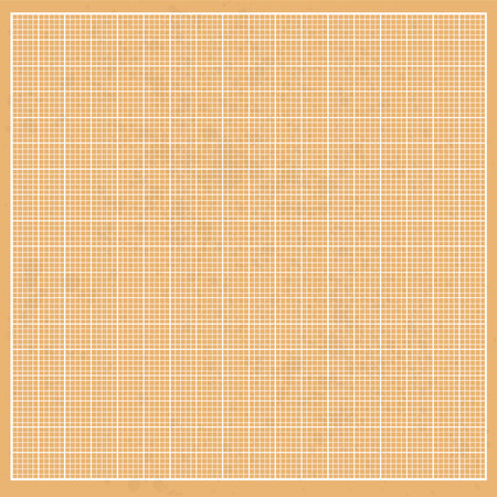 Graph  orange paper grunge with white cells Vector