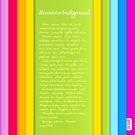 text area: Background from vertical rainbow colored stripes with text area