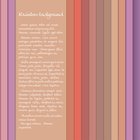 Banner with colored stripes in pastel orange and purple tones Vector