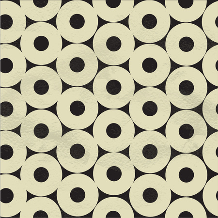 Seamless pattern of beige circles on black paper Vector
