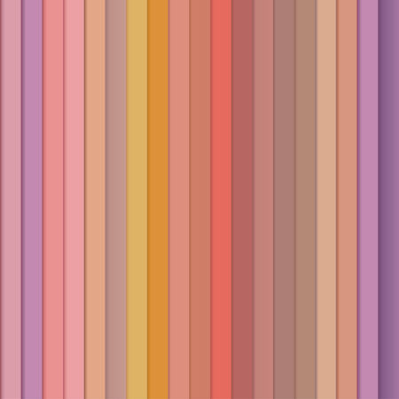 Seamless pattern of colored stripes in pastel orange and purple tones Vector