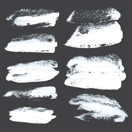peinture blanche: R�sum� coups r�alistes tir�s peinture blanche �paisse sur papier noir