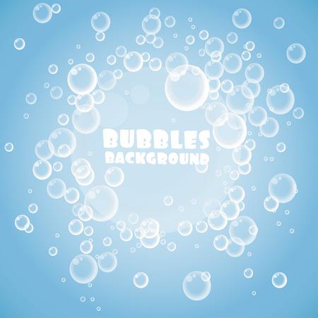 soap: Blue bubbles background