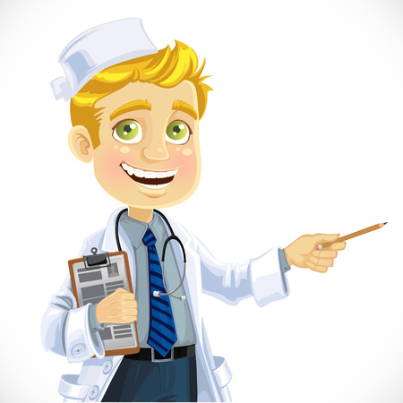 Cute blond doctor