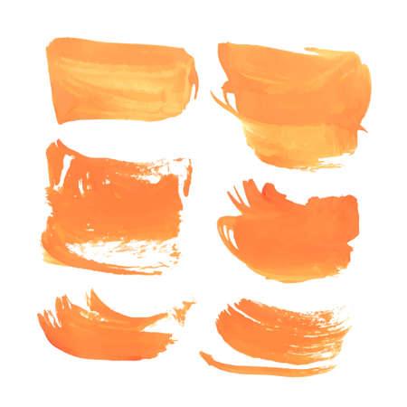 smears:  Realistic orange wet smears  Illustration