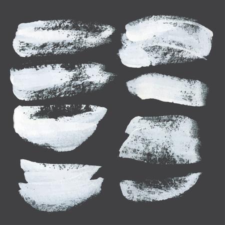 peinture blanche: Coups r�alistes tir�es de la peinture blanche �paisse sur papier noir