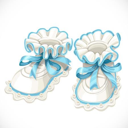 Baby Blue Booties isoliert auf weißem Hintergrund