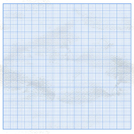 graph paper: Crumpled graph white paper with blue cells Illustration