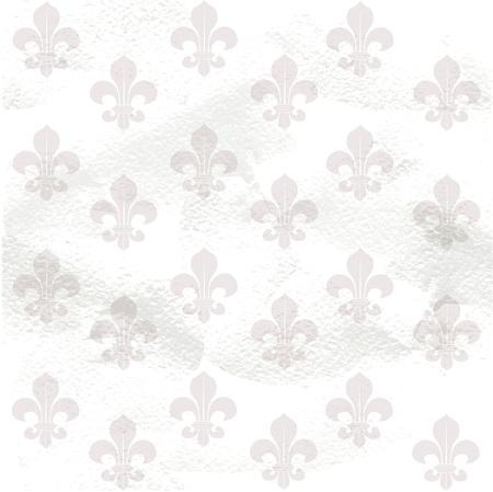Fleur-de-lys seamless  background background on grange paper Vector
