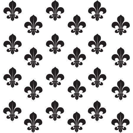 Fleur-de-lys seamless background background Vector