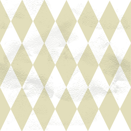 roundish: Seamless grungy vintage pattern from the domino diamonds Illustration
